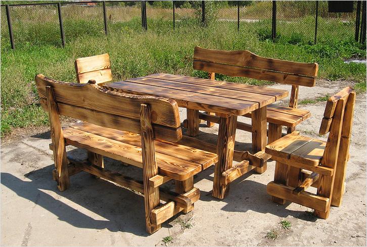 Столы и стулья для сада своими руками